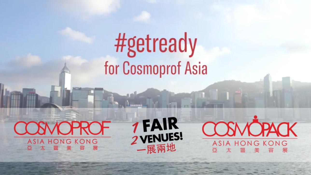 第24屆亞洲最大型的國際美容商貿盛事Cosmoprof Asia將於下週隆重舉行,各合作夥伴及品牌早於活動開始前已預備好迎接展會的來臨。ECHO ASIA團隊再次榮幸參與此項目,早前造訪了多個對Cosmoprof Asia舉足輕重的合作夥伴,包括centdegrés、香港化粧品同業協會、Euromonitor International、Italian Trade Agency及KOTRA,了解他們將會在展會為觀眾帶來什麼精彩項目及活動。即按以下連結觀看影片,讓我們一起 #getready for Cosmoprof Asia!