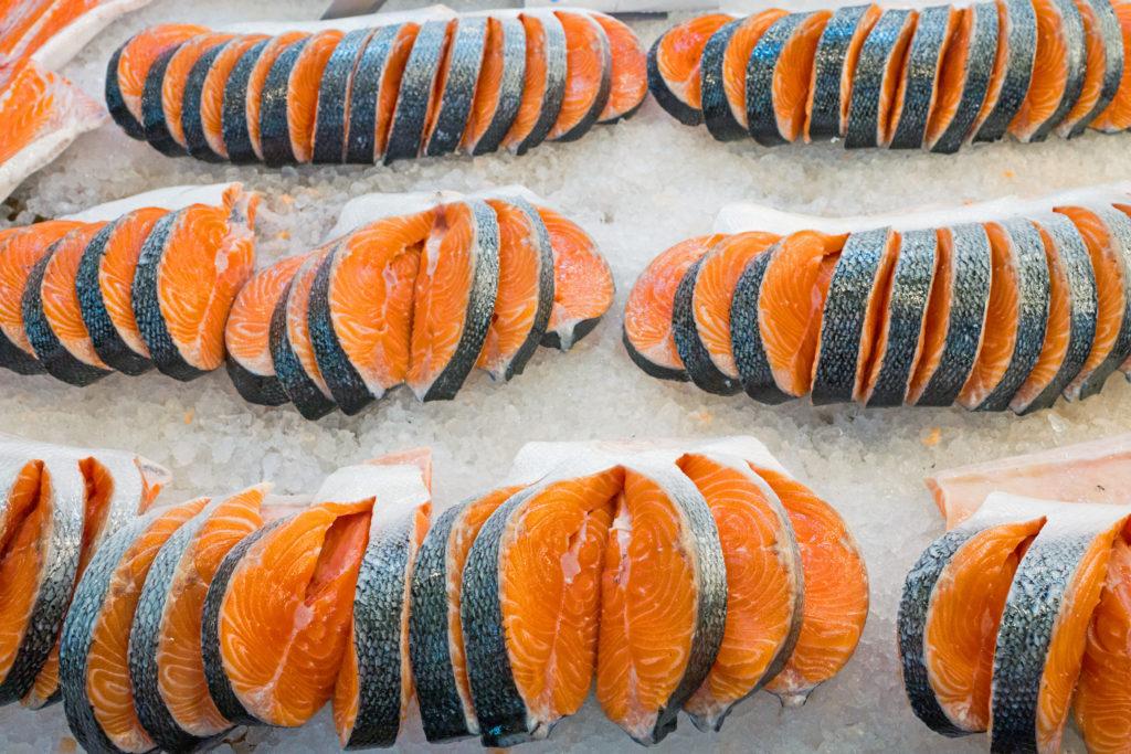 Fish Salmon Norway Raw Fresh Slices