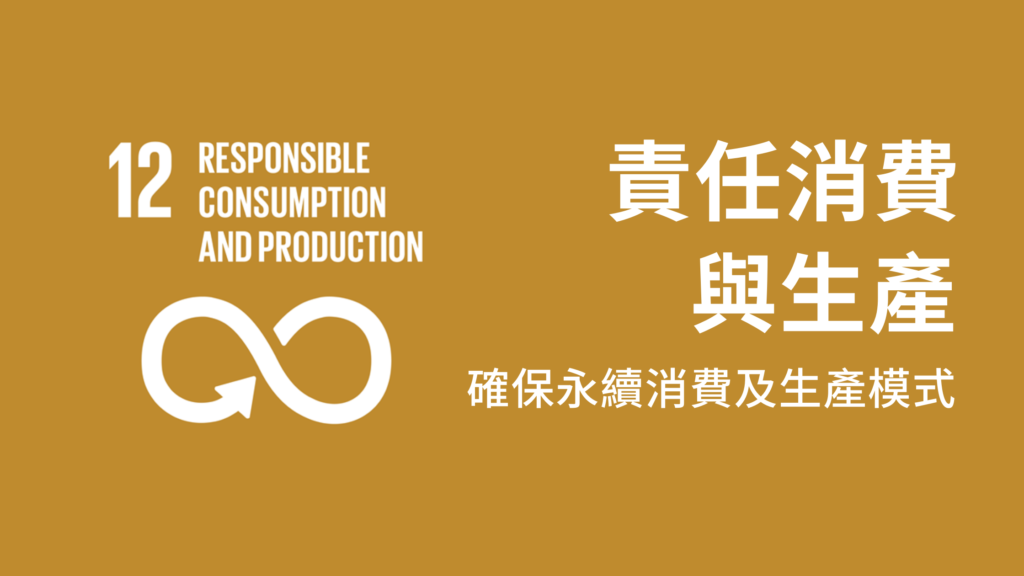 SDG, Responsible Consumption and Production, 責任消費與生產